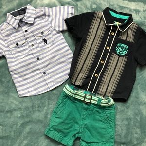 Button down Polo shirts Lot (18 mos)